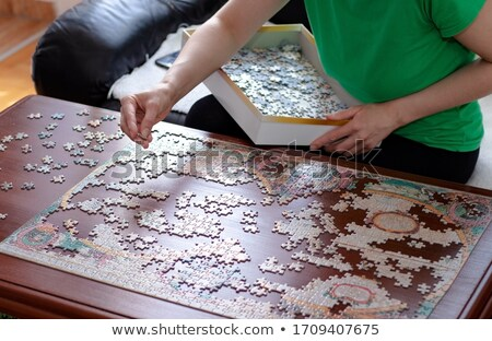 woman with a jigsaw stock photo © photography33