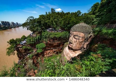 Testa gigante buddha Cina pietra statua Foto d'archivio © cr8tivguy