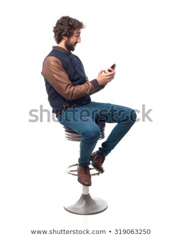 seated man on the phone stock photo © feedough