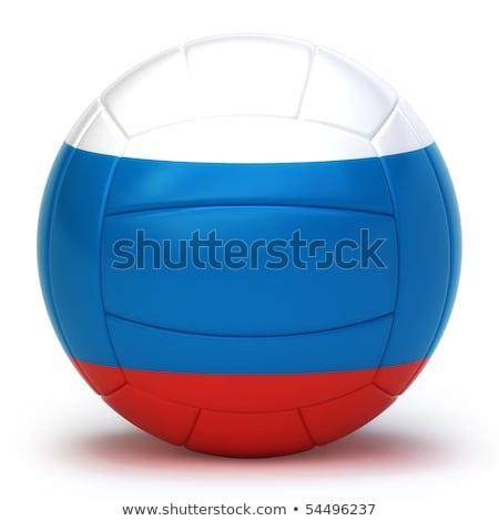 русский волейбол команда изолированный синий Сток-фото © bosphorus