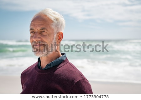 man · zee · strand · gelukkig · zon · landschap - stockfoto © photography33