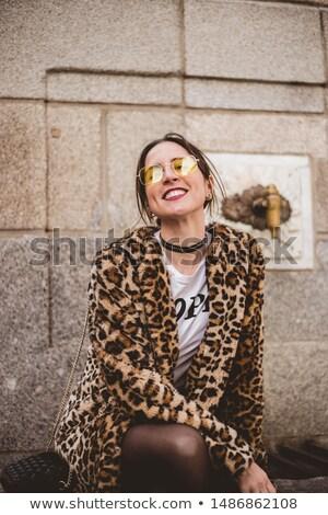 женщину · Leopard · обувь · ярко · фотография · Sexy - Сток-фото © acidgrey