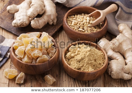 Candied ginger pieces Stock photo © elenaphoto