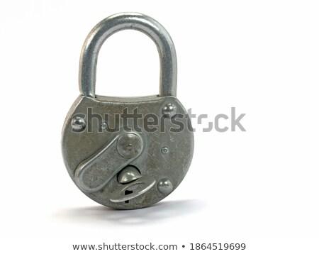 Unlocked padlock against white background close up Stock photo © wavebreak_media