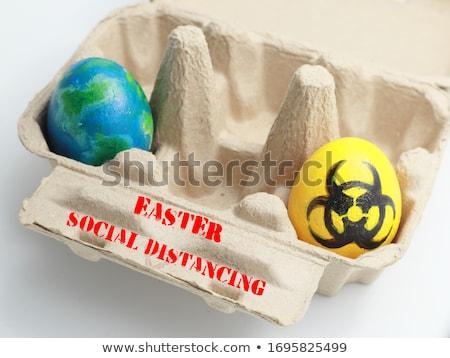 Egg with biohazard warning sign Stock photo © boroda