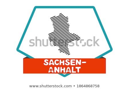 Button Saxony-Anhalt Stock photo © Ustofre9