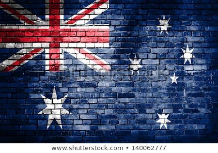 Stockfoto: Australian Flag On Brick Background