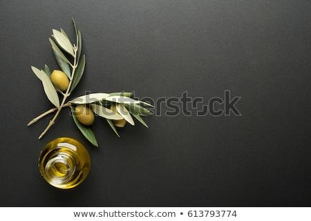 Preto azeite comida folha fundo oliva Foto stock © M-studio