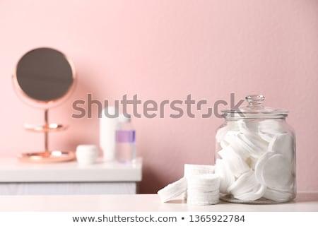Colorful make up cotton stacked Stock photo © lunamarina