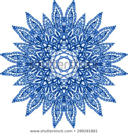 Vector Vintage Highly Detailed Snowflake Stock photo © alexmakarova