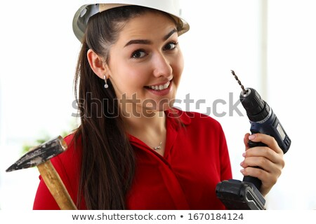 Brunette in construction worker outfit Stock photo © photography33