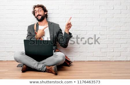 молодые деловой человек представляет ноутбука оба Сток-фото © feedough
