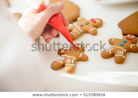 preparazione · pan · di · zenzero · uomini · cookies · farina · cucina - foto d'archivio © zhekos