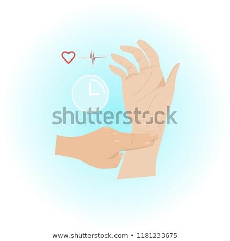 impulso · polso · infermiera · tasso · senior - foto d'archivio © ia_64