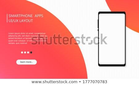 Android Banner isoliert weiß Hintergrund Wissenschaft Stock foto © Kirill_M