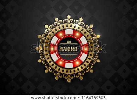Foto stock: Cassino · vintage · pôquer · elementos · coração · fundo