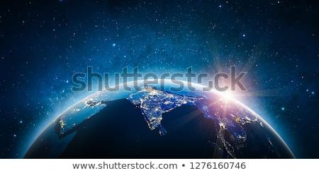 Inde nuit espace sous-continent indien planète terre Photo stock © Harlekino
