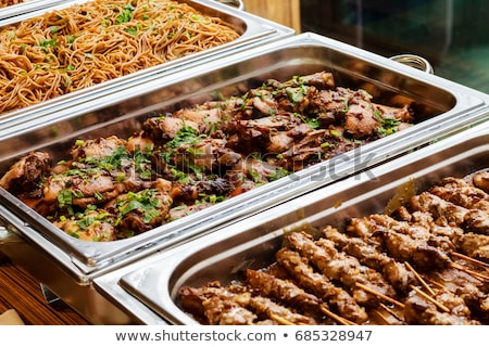 Salad and meat buffet Stock photo © tepic