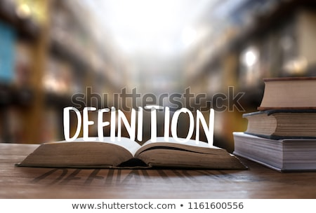 Definicja stron słowo książki informacji tekst Zdjęcia stock © devon