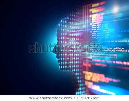 ストックフォト: マシン · 男 · 作業 · ビジネス · コンピュータ · 手