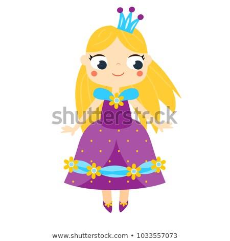 Doll With Violet Dress Stock photo © derocz