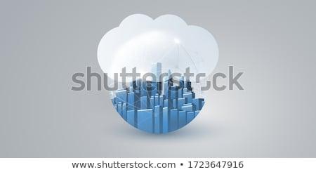 Stock fotó: Felhő · szolgáltatás · digitális · arany · szín · szöveg