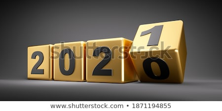 Stock photo: change management in golden cubes