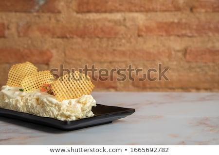 krumpli · tonhal · saláta · pesztó · öntet · étel · hal - stock fotó © nito