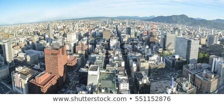 город башни Япония снега зданий панорамный Сток-фото © photohome