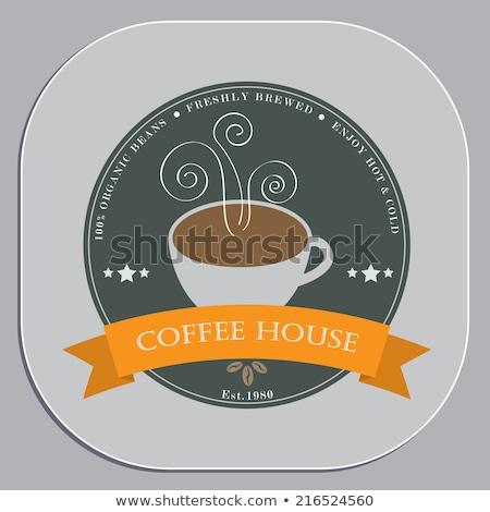 Kávéház hirdetés terv poháralátét forma tárgy Stock fotó © jaylopez