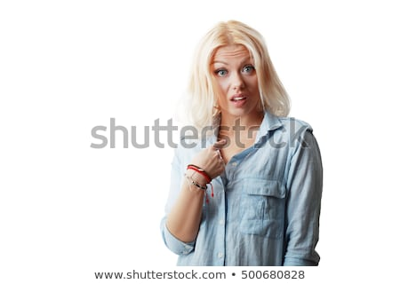 girl asking 'are you really sure?' Stock photo © Giulio_Fornasar