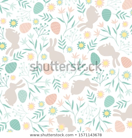 seamless easter pattern vector stock photo © beaubelle