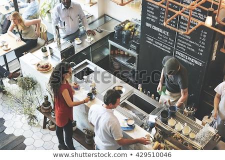 Coffeeshop gestileerde snack bars restaurants Stockfoto © tracer