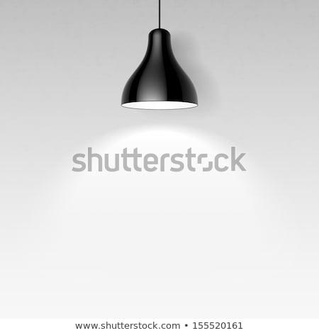 negro · techo · lámparas · vector · galería · interior - foto stock © -baks-