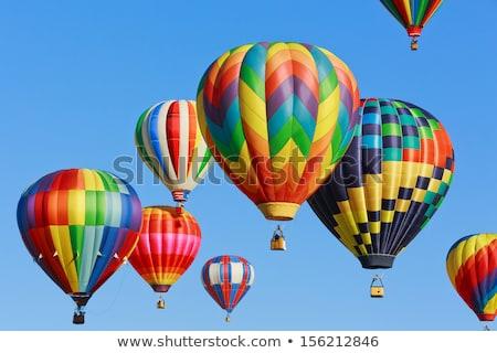 воздушном шаре Blue Sky красочный шаре спорт шаров Сток-фото © Balefire9