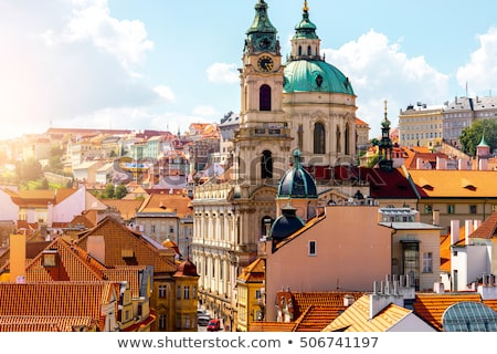 Prague Saint Nicholas Church and LEsser Town Stock photo © stevanovicigor