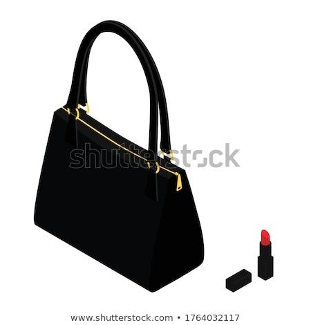 Black handbag clutch and set of trendy lipsticks  Stock photo © Elisanth