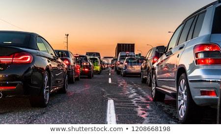 autostrady · korku · słoneczny · dekoracje · autostrady · Niemcy - zdjęcia stock © prill