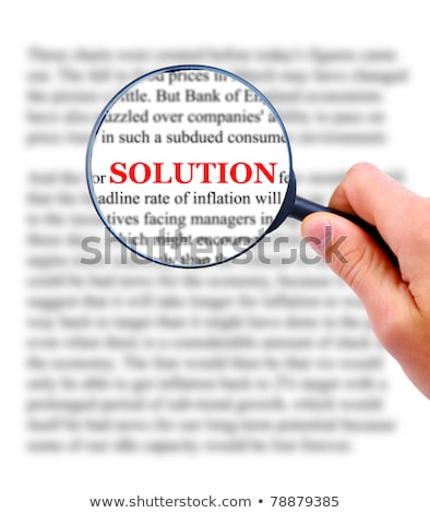 people word and magnifying glass stock photo © fuzzbones0