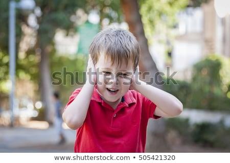5 éves fiú apa apa fia felfedez kint Stock fotó © igabriela