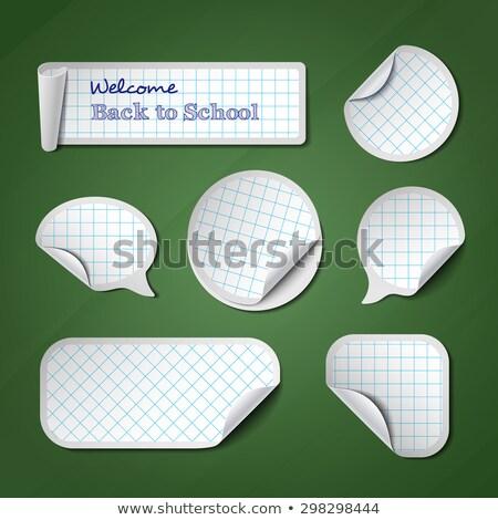 Vert à carreaux tableau tableau noir éducation Photo stock © marinini
