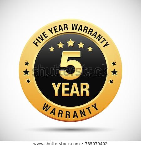 Yıl garanti altın vektör ikon dizayn Stok fotoğraf © rizwanali3d