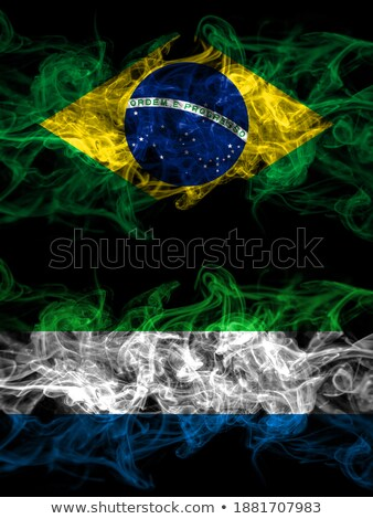 brazil and sierra leone flags stock photo © istanbul2009