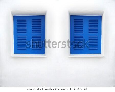 kék · ablak · szívek · citromsárga · fal · Wall · Street - stock fotó © jirivondrous