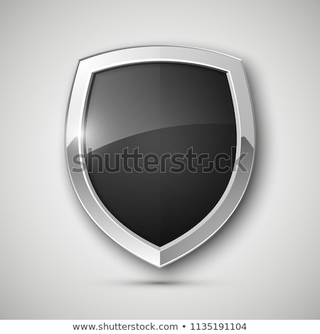 security shield with banner icons stock photo © fenton