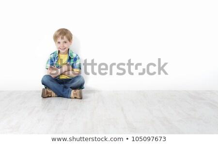 kinderen · vergadering · muur · gelukkig · jongens · lachend - stockfoto © zurijeta