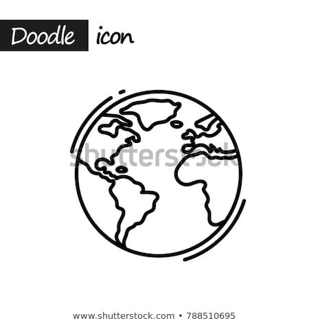 Firka Föld ikon infografika szimbólum kör Stock fotó © pakete