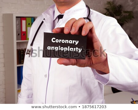 Stent Coronary Medical Concept Stock photo © Lightsource