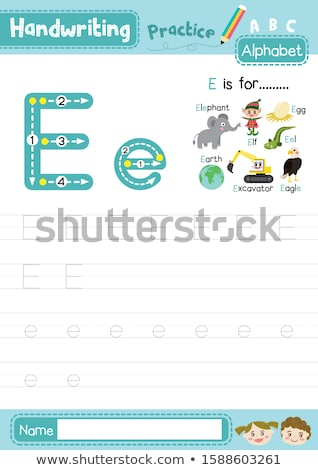 Letter E for Earth, eggs and elephant Stock photo © bluering