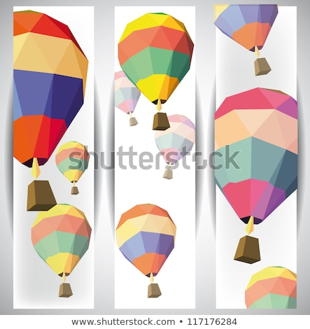 hot air balloon with banner eps 10 stock photo © beholdereye